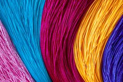 Colorful color background and texture of Chinese knot tassels. royalty free stock photos
