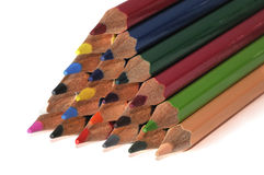 Colorful color crayons. Isolated on white background Royalty Free Stock Photography