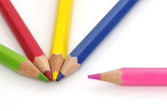 Colorful color crayons Stock Photos