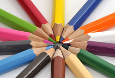 Colorful color crayons Stock Photo