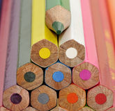 Colorful color crayons Royalty Free Stock Photo