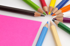 Colorful color crayons Royalty Free Stock Photos