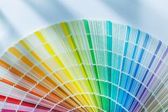 Colorful color palette on white background.  royalty free stock photo