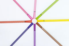 Colorful color pen Stock Images