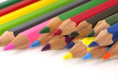 Colorful color pencil. Isolated on white background Royalty Free Stock Photography