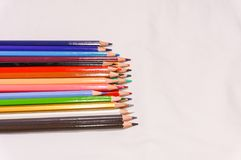 Colorful of color pencil. Isolated on white Stock Images