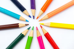 Colorful color pencil paint art creative concept. Stock Photography