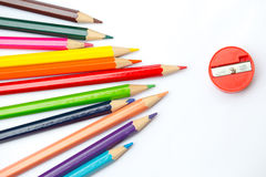 Colorful color pencil paint art creative concept. Stock Images