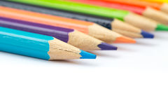 Colorful color pencil paint art creative concept. Royalty Free Stock Photo