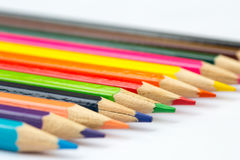 Colorful color pencil paint art creative concept. Royalty Free Stock Image