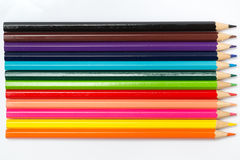 Colorful color pencil paint art creative concept. Stock Photo