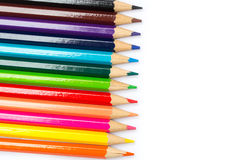 Colorful color pencil paint art creative concept. Royalty Free Stock Photography