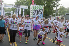 Colorful Color Run Begins Stock Images