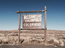 Colorful Colorado. Welcome to colorful Colorado Royalty Free Stock Photography