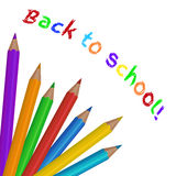 Colorful colored pencils. Back to school Stock Images