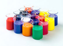 Colorful colors in glasses Royalty Free Stock Images