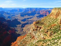 Colorful Colors of South Rim in Grand Canyon National Park Royalty Free Stock Photos