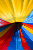 Colorful colours of an umbrella. Colorful colours of an umbrella used in circus show Royalty Free Stock Photography