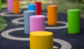 Colorful column strip or Mortar Stock Photo