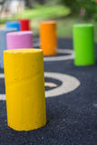Colorful column strip or Mortar Stock Photography