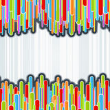 Colorful columns background Stock Image
