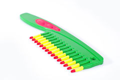 Colorful comb Stock Photo