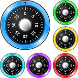 Colorful combination locks Royalty Free Stock Photos
