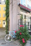 Colorful combination in the streets of Copenhagen stock photo