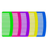Colorful combs Stock Images