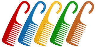 Colorful combs Royalty Free Stock Photo