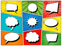 Colorful comic book background royalty free illustration
