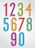 Colorful comic narrow numbers Stock Photography