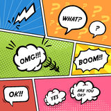 Colorful comic speech bubbles set Royalty Free Stock Photo
