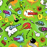 Colorful comics seamless bubbles pattern Royalty Free Stock Photos