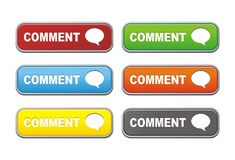 Colorful comment buttons Stock Images