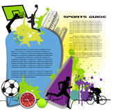 Colorful commerce page sports Stock Photos