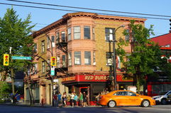 Colorful Commercial drive in Vancouver Royalty Free Stock Images