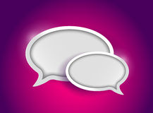 Colorful communication bubbles concept. Illustration design graphic Royalty Free Stock Photos