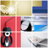 Colorful communication collage. Royalty Free Stock Photography