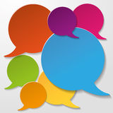 Colorful Communication Speech Bubbles White Background Royalty Free Stock Photo