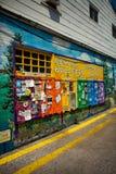 Colorful Community Bulletin Board Newark Stock Image