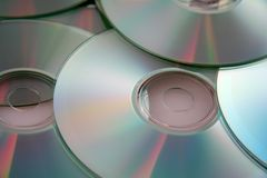 Colorful Compact Discs Stock Image