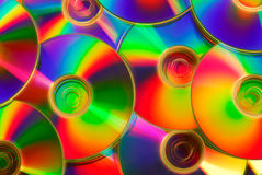 Colorful compact discs Stock Images