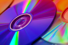 Colorful compact discs Royalty Free Stock Image