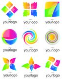 Colorful company logo elements set Stock Images