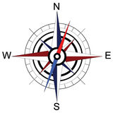 Colorful compass arrow. Raster Royalty Free Stock Photos