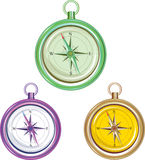 Colorful Compasses Royalty Free Stock Photo