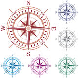 Colorful compasses Royalty Free Stock Photos