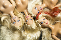 Colorful composition with Barbie dolls Royalty Free Stock Image