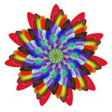 Colorful computer generated spiral fractal flower Royalty Free Stock Images